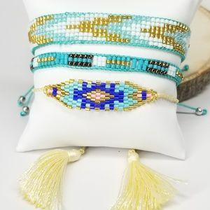 NEW 3 Pcs Set Miyuki Beads Handmade Bracelet NWT